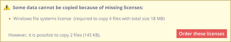 ACTIVATING LICENSES IN THE SOFTWARE